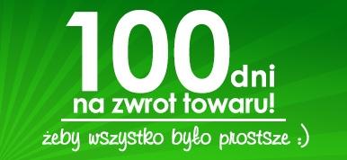Aż 100 dni na zwrot towaru!