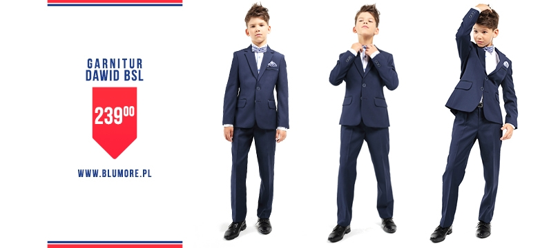 Szykowny i wyjątkowy garnitur dla chłopca!