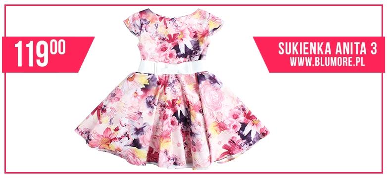 Kwiecista sukienka dla małej modnisi!
