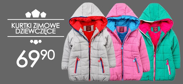 Zimowe kurtki dziewczęce.
