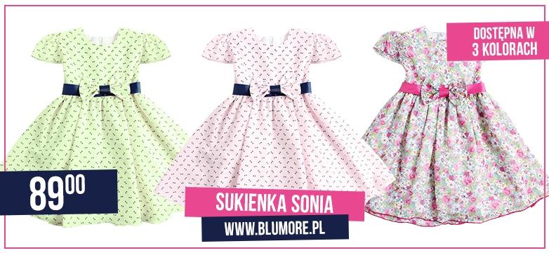 Urocza sukieneczka w trzech kolorach — kup teraz!