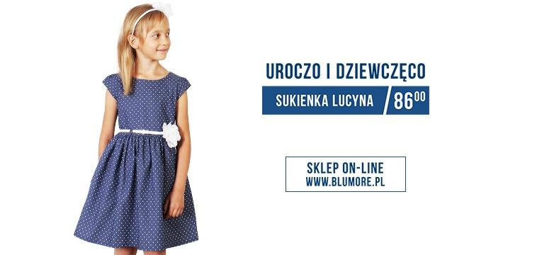 Dziewczęca sukienka w groszki - Lucyna.