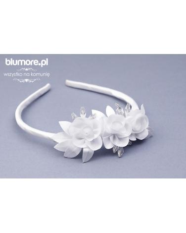 Elegancka opaska dla dziewczynki, 3 kwiatki P06