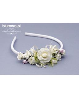 Opaska z kremowymi kwiatami OP30