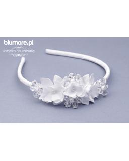 Biała opaska z diamencikami OP62