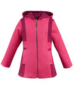 Pomysłowy pikowany płaszcz 128-146 Regina amarant