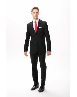 Czarny garnitur dla eleganckiego nastolatka 158-164 Czarek