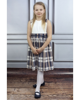 Niebanalna sukienka 140-158 Donata w kratkę