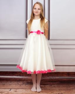 Niezwykła sukienka wizytowa 140-158 Blanka ecru