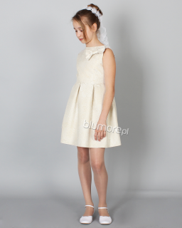 Sukienka z pięknym kwiecistym wzorem 128-158 Tina złoto