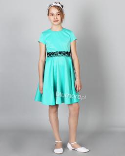 Sukienka pełna wdzięku 128-158 Konstancja mięta