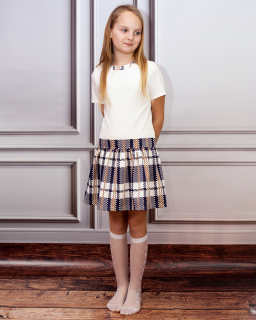 Sukienka z modnym motywem kratki 140-158 Ewelina