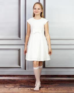Delikatna sukienka dla małej elegantki 140-158 Rozalia ecru