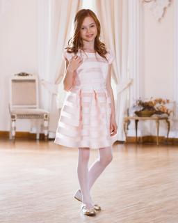 Sukienka z ekskluzywnej tkaniny 134-158 Sonia jasny róż