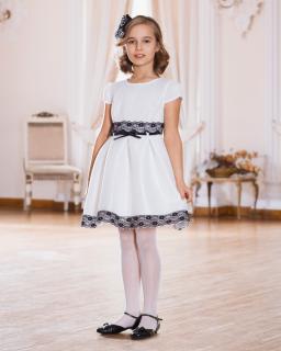 Sukienka z piankowego materiału 134-158 Emma ecru