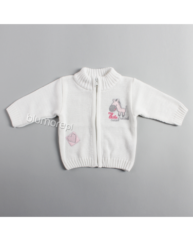 Wysokiej jakości sweterek 86 - 104 NM-454 Biały