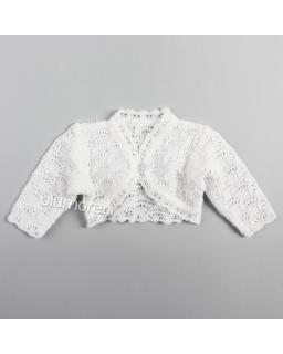Urocze bolerko niemowlęce BO-441 Białe