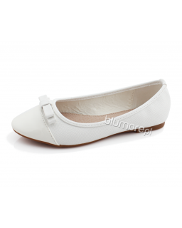 Szykowne baleriny 30-35 BA12 Białe