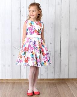 Śliczna sukienka na wesele 128 - 158 Anita multikolor