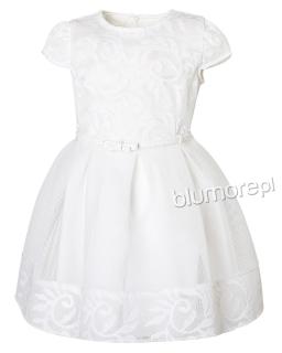 Wyrafinowana sukienka 134-158 Jola ecru