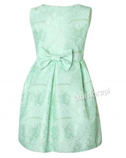 Sukienka w letnim odcieniu 134-158 Tina mięta