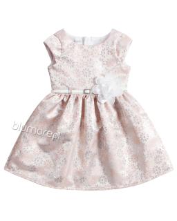 Efektowna mieniąca się sukienka 62 - 152 Tacjana 3 łososiowo-złota