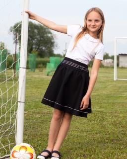 Efektowna szkolna spódnica 116-152 Sonia czarny
