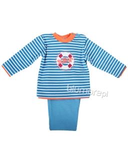 Komplet dresowy w paski dla maluszka 74 Aruś niebieski