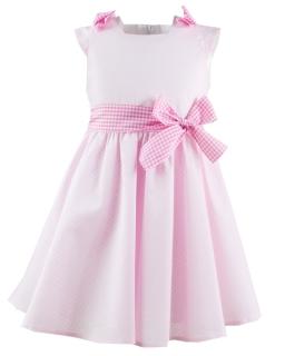 Delikatna sukienka na lato 98-116 Hania róż