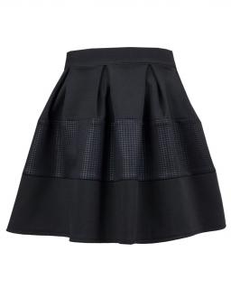 Elegancka spódnica z wstawką 116-140 Daga czerń