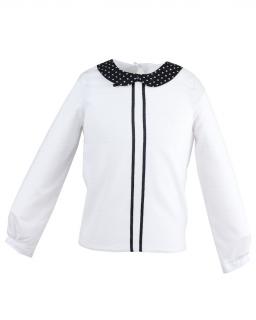 Bluzka z długim rękawem 1116-146 Dagmara biel plus czerń