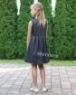 Galowa sukienka z ciekawym motywem 122-134 Princeska grafit