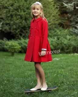 Uniwersalny płaszcz dla dziewczynek 116-158 Brenda czerwony