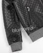 Modna pikowana bluza 128-158 Bomberka czarny