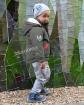 Chłopięca kurtka z modnymi wstawkami 98-128 Jacek khaki