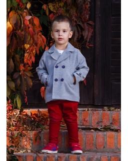Chłopięca przejściowa kurtka 92-116 Oskar szary