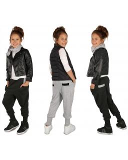 Modne spodnie dresowe baggy 116-158 KR39 dwa kolory