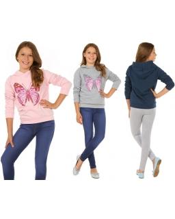 Bluza z pięknym motylem 116-158 KR47 cztery kolory