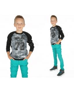 Czarna bluza z ozdobnym wzorem 116 KR48 Czerń