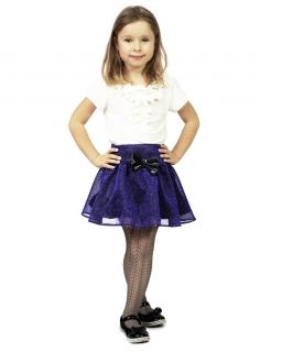 Świąteczna spódniczka Tosia niebieska