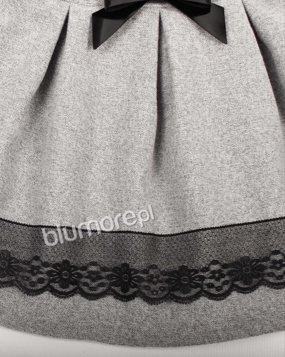 12ad933471 Wyjątkowa sukienka z koronką 104-140 Luiza szary