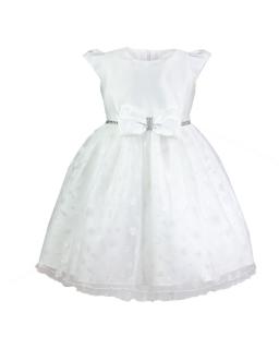 Zjawiskowa sukienka dla dziewczynki 98-128 Dolores biel
