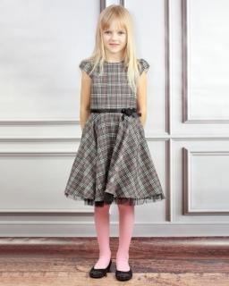 Wrująca sukienka w świąteczną kratkę 110-134 Flawia mix