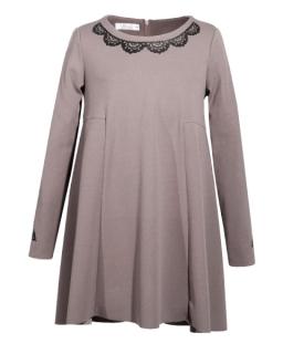 Luźna sukienka 134-158 Lukrecja taupe