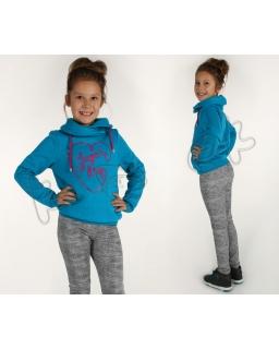 Dziewczęca bluza z nadrukiem 116-158 KR69 Cztery kolory