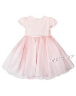 Sukienka z tiulowym dołem 86-122 Łososiowy