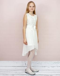 Elegancka sukienka dla dziewczynki 140-164 Katia 2 ecru