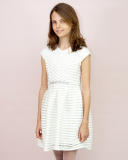 Elegancka sukienka dziewczęca 140-164 Donna ecru