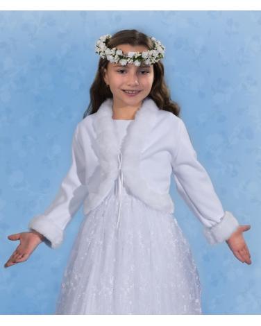 Polarowe bolerko komunijne dla dziewczynki 128-152 PKC46