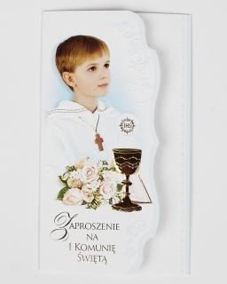 Zaproszenie na Pierwszą Komunię dla chłopca 05